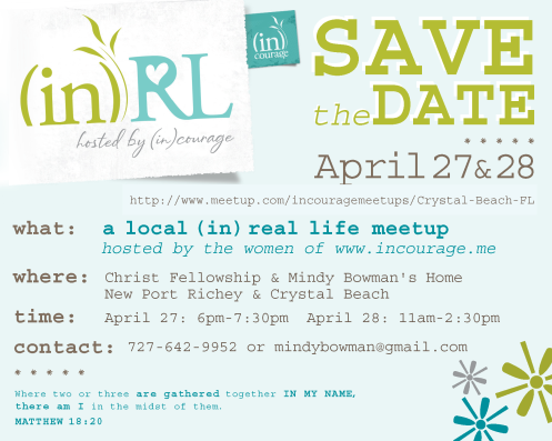 Christ Fellowship (in)RL Save The Date
